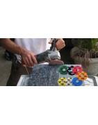 Đĩa kim cương KGS đánh bóng đá Granite, cẩm thạch (máy mài tay)
