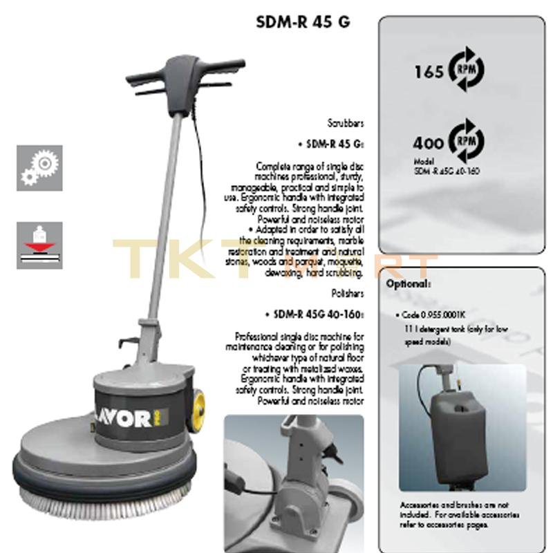 Giới thiệu máy chà sàn đơn Lavor SDM-R 45G 16-160